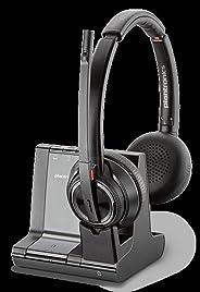 Plantronics Savi W8220 双声道的 头带 黑色 耳机 (电话/办公室中心,双耳,头带,黑色,无线,180 米