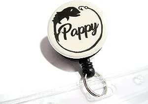 ATLanyards Pappy 钓鱼牌支架防水,浸泡钓鱼礼品,Pappy 徽章卷轴,卡其色 22