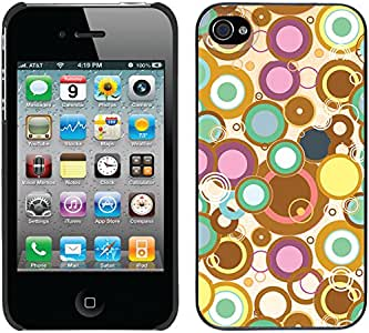 Coveroo Thinshield Snap-On Cell Phone Case for iPhone 4s/4 - Retail Packaging - Circle Trip Multicolor Design