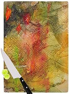 "KESS InHouse Carol Schiff""Poppyfield Yellow Green"" 砧板 多色 多种颜色 11.5 by 8.25"" CS1001ACB01"
