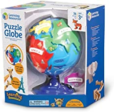 Learning Resources 拼图地球仪 Puzzle Globe
