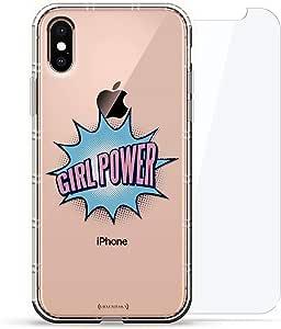 旗帜:Luxendary Air 系列 360 束:透明硅胶保护套,3D 打印设计和气囊缓冲缓冲垫 + 适用于 iPhone Xs Max 的钢化玻璃LUX-IXPLAIR360-GIRL5 SEXY: Girl Power 透明