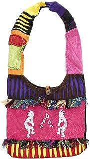 波西米亚嬉皮斜挎单肩包 吊带棉质手工多种图案