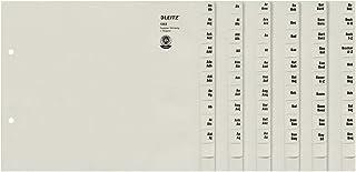 Leitz 利市 13520085 寄存器 A-Z A4 纸 纸 纸 适用于 100 文件夹 灰色