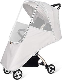 Tieesa 婴儿车防雨罩 通用尺寸 婴儿旅行防雨罩 婴儿车防风雨防雪防尘遮阳罩