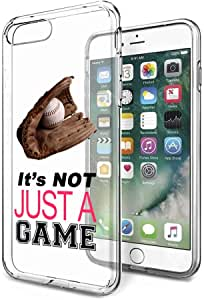 iPhone 7 Plus / 8 Plus Clear - Baseball Its Not Just A Game Pink Quote