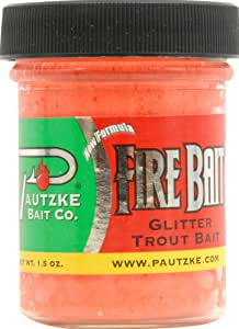 Balls O' Fire Jar of Fire Bait Garlic Salmon Egg Used to Catch Trout, 1.5-Ounce, Orange