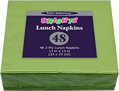 Party Essentials N130175 纸两层方形餐巾纸,13 英寸 x 13 英寸 午餐 48 克拉,亮*