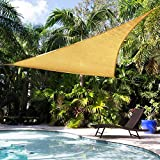 Shade&Beyond Triangle 遮阳帆,露天庭草坪 Pergola 户外设施和活动 沙砾色 12'x12'x17'