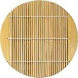 山木 日式道具 米加基竹 磨刀 圆形 棕色 15.5cm 11-218