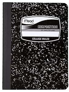 Mead SQUARE DEAL 黑色大理石 composition 书,100张,大学规则