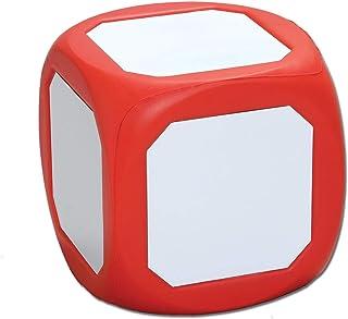 Learning Advantage 可擦拭 4.75 英寸 - 红色磁性干擦骰子 - 教学概率 - 用于游戏玩耍的大型骰子