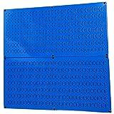浮板机架壁控制钢钉板包装蓝色钉板 - 两个 81.28 cm x 40.64 cm 蓝色金属钉板面板