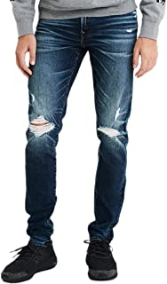 American Eagle 男士 4853832 Ne(x) t Level Airflex 紧身牛仔裤,深色破坏