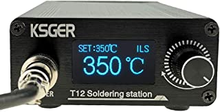 KSGER T12 焊接站 DIY STM32 V3.1S OLED 温度控制器电子焊接铁头手柄铝合金外壳电源设备 110V T12 铁尖K ILS D24