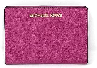 Michael Kors 迈克高仕 Jet Set 旅行皮革中号卡包手提钱包带可拆卸身份证卡包