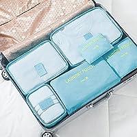 【买2件总价立减5元】Naphele奈菲乐 旅行收纳袋六件套行李箱整理袋子衣服收纳包储物袋 (天蓝色)