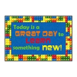Flagship Carpets CE144-14W Welcome Mat,Great Day,Multi