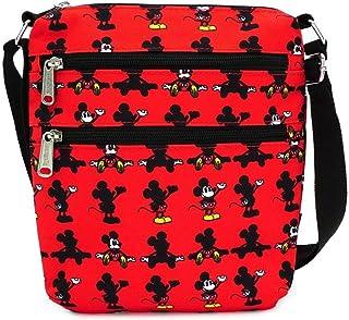 Loungefly x Disney 米老鼠零件 全印花尼龙护照包 红色 均码