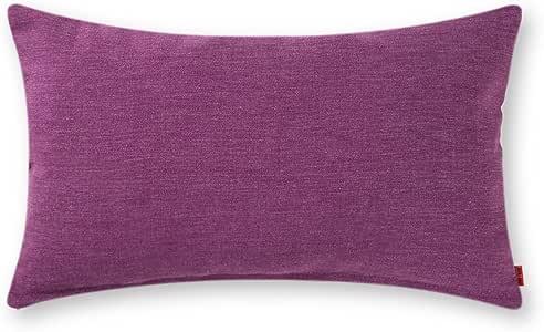 Baibu 纯色抱枕枕套(12种颜色和6尺寸 ) 装饰垫套适用于沙发黄色