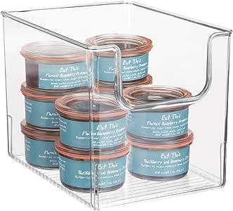 mDesign 塑料食品存储收纳盒厨房,食品收纳盒,30.48 cm 宽 透明 1包 02232MDK