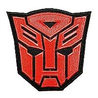变形金刚(红色) Autobot 电影胶片补丁刺绣熨烫帽子外套连帽背包适用于礼品 / 7.8CM (宽) x 7.5cm ( 高 )