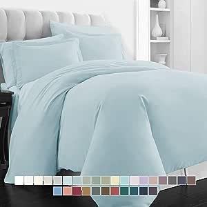 pizuna linens 400支床单套装 long-staple 100%棉床单套装棉缎编织 bedsheets 时尚20.32cm 下摆60.96cm