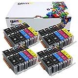 HIINK 20 包 250XL 251XL 墨盒替换装 PGI-250xl CLI-251xl PGI250 CLI251 用于 PIXMA IP7220 iX6820 MG5420 MG5422 MG5520 MG5522 MG6420 MX722 MX922