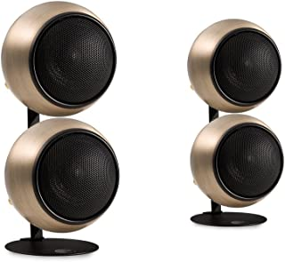 Orb Audio Mod2X QuickPack - Satellite Speakers and Desk Stand, Hand Antiqued Bronze