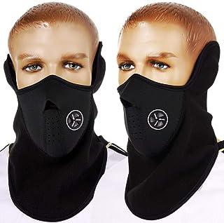 通用中号黑色面罩 颈部保暖护具氯丁橡胶保暖抓绒 适用于滑雪单板自行车冬季运动