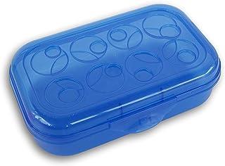 带圆形图案盖的铅笔盒 蓝色 FW09-050Aaaa
