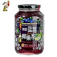 韩今(韩国) 蜂蜜蓝莓椰果茶1Kg(韩国进口)(亚马逊自营商品, 由供应商配送)