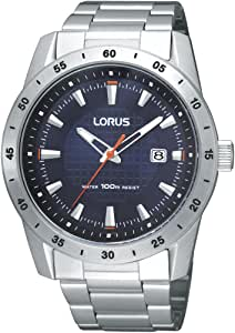 Lorus 男士石英手表 RH963BX9 带金属表带