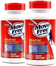 2瓶装|Schiff move free Ultra Omega旭福维骨力高端骨关节养护蓝瓶维D版 2 * 80粒 2瓶装 (美国品牌)包税包邮