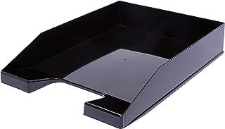 4 x A4 黑色可堆叠字母托盘
