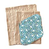华布 布巾布 布餐巾套装C(鸟形蓝色支架、L、M)