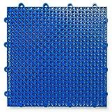 DuraGrid CR48ROYB 交叉罗纹设计,联锁模块化多用途*地板垫,48 件装,宝蓝色,件