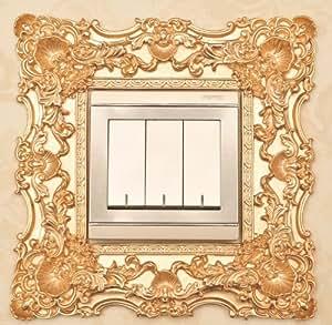 洪麦美家 树脂开关贴 高档 优质树脂 环保 开关框 装饰品