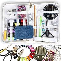 初学者缝纫套装,旅行缝纫套装,迷你缝纫套件,176 件,熨烫下摆胶带和贴布,针线和螺纹