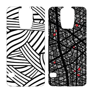 OtterBox My Symmetry 图案插入件 2 件装适用于三星 Galaxy S578-50331 Silly String, Grey Mosaic