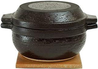 长谷制陶(Nagatani Seitou)土锅 黑色 3000毫升 长谷园 男厨 土锅 NNC-94
