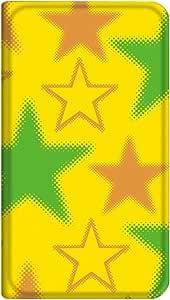 智能手机壳 手册式 对应全部机型 薄型印刷手册 cw-271top 套 手册 星星 极薄 轻量 UV印刷 壳WN-PR353258-S かんたんスマホ AQUOS PHONE ef WX05SH 图案E