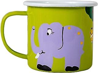 Lumela 手绘丛林动物珐琅新奇咖啡杯 Jungle Scene