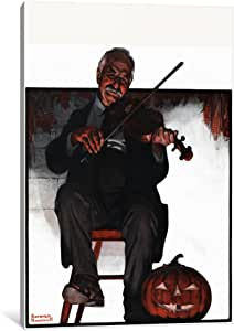 """iCanvasART Man Playing Violin Canvas Print by Norman Rockwell, 18"""" x 12""""/1.5"""" Deep"""