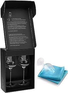 捆绑 - 2 件商品:Gabriel-Glas - 奥地利水晶酒杯 - 超细纤维酒杯毛巾 金色版 Set of 2