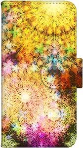智能手机壳 手册式 对应全部机型 印刷手册 wn-029top 套 手册 万花镜 镜 玻璃 花 UV印刷 壳WN-PR014347-S AQUOS PHONE es WX04SH B款