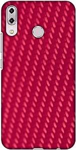 AMZER 超薄设计师卡扣式硬壳保护套带屏幕护理套件适用于华硕 Zenfone 5Z ZS620KLAMZ601040464288  Carbon Fiber Redux Candy Red 13