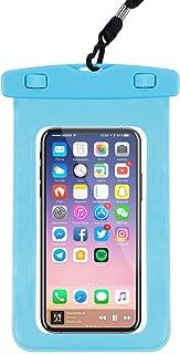 Hartop 3 件装防水手机袋,防水手机套干燥袋适用于 Apple iPhone Xs Max/XR/X/8/8P/7/7P Galaxy 高达 7.0 英寸(约 17.8 厘米),适用于泳池海滩皮划艇旅行或沐浴 浅蓝色