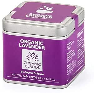 Organic Islands Herbs Lavender Single Cube Tin, 30 g, Pack of 2