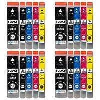 Go Inks 墨盒 适用于 Epson 爱普生 T3357 (33XL 系列),兼容爱普生 Expression Premium 打印机,20 件